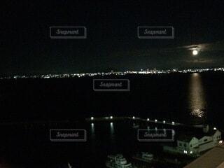 空,夜,湖,水面