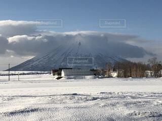 自然,風景,空,冬,雪,屋外,雲,山,日中,覆う