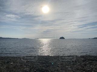 自然,風景,海,空,屋外,雲,島,水面,海岸,水平線