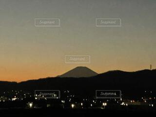 風景,空,富士山,屋外,夕暮れ,山,富士,ふじさん,mt fuji