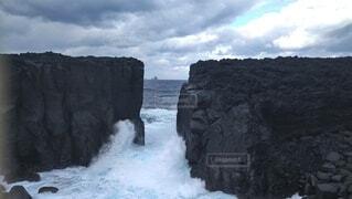 自然,海,海岸,崖