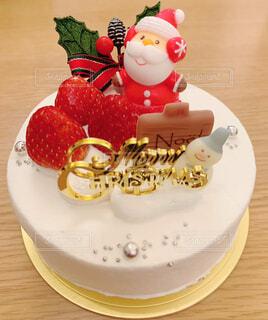 定番のクリスマスケーキの写真・画像素材[4026764]