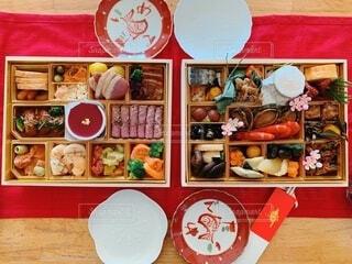 色とりどりの美味しいおせち料理の写真・画像素材[4032445]