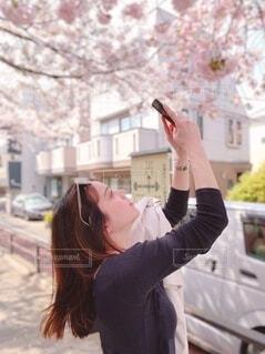 女性,20代,風景,春,カメラ,桜,ロングヘア,木,屋外,ピンク,サングラス,黒,散歩,花見,女子,スマホ,撮影,満開,茶髪,お花見,横顔,人,写真,スマートフォン,お散歩,携帯,おでかけ,おさんぽ,お出かけ,4月,さくら
