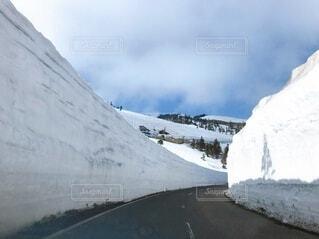 雪の壁の写真・画像素材[4151652]