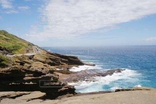 自然,風景,海,空,屋外,ビーチ,雲,晴天,水面,山,岩,ドライブ