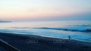 自然,海,空,屋外,ビーチ,雲,波,水面,海岸,朝,日の出,早朝