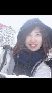 女性,風景,雪,少女,人,笑顔,ポーズ,ジャケット,人間の顔