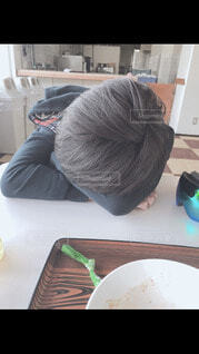 屋内,寝る,人,頭,一休み