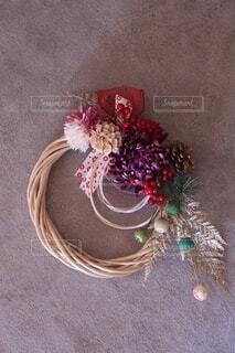 花,雑貨,リース,しめ縄,お正月,手作り,造花,新春,アーティフィシャルフラワー,迎春,しめ縄飾り