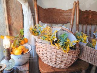 ミモザの花束の写真・画像素材[4168741]