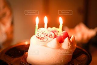 崩れたケーキの写真・画像素材[4029713]