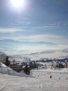 自然,空,冬,雪,屋外,太陽,運動,ゲレンデ,スキー場,斜面,ウィンタースポーツ,日中
