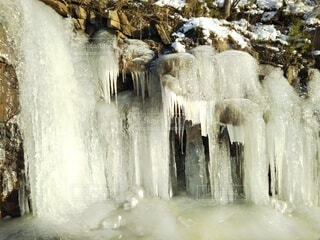 自然,風景,冬,雪,氷,滝