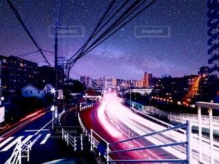 空,夜,橋,屋外,都会,高層ビル,明るい