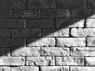 レンガ,壁,通り,手書き,建築材料,黒と白