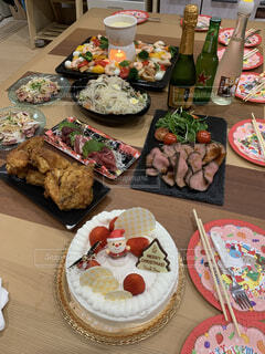 食べ物,食事,屋内,クリスマスパーティー