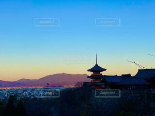清水寺,京都,朝日,朝焼け,正月,お正月,日の出,新年,初日の出,東山