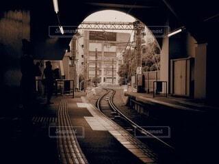 空,駅,モノクロ,線路,都会,アーチ