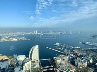 風景,海,空,屋外,雲,ボート,水面,都会,高層ビル,港,横浜,みなとみらい
