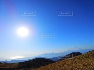 自然,風景,空,富士山,屋外,太陽,雲,山,景色,高原