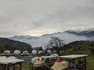 空,雲,霧,山,キャンプ,朝,雲海,テント