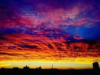 空,屋外,太陽,雲,夕焼け,夕暮れ,宮崎,燃える空