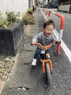 散歩,道路,バイク,幼児