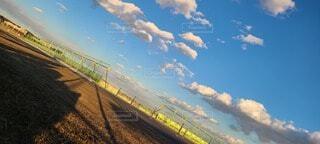 空,雲,青,影,米軍基地