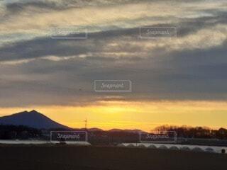 風景,空,日の出,筑波山,2020年1月8日,7時半