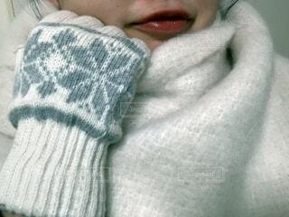 マフラーと手袋をした女の子の写真・画像素材[4079817]