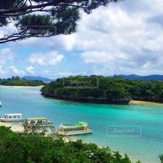 石垣島の川平湾の眺めの写真・画像素材[4087245]