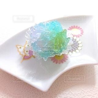 紫陽花の和菓子の写真・画像素材[4555891]