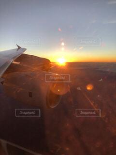 空,朝日,正月,お正月,日の出,航空機,新年,初日の出,フライト