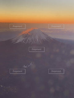 風景,空,飛行機,山,日の出