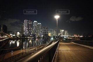 風景,夜,海岸,都市,景色,イルミネーション,都会,ライトアップ,高層ビル,横浜,東京湾