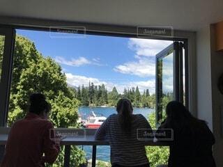風景,湖,窓,休日,ニュージーランド,クイーンズタウン,休暇