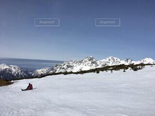 自然,空,雪,雪山,山,氷,登山,旅,蝶ヶ岳