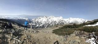 自然,空,絶景,雪,雪山,山,登山,旅,穂高連峰,山腹