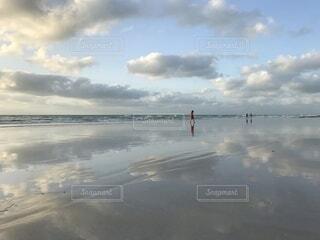 自然,海,夕日,ビーチ,散歩,海岸,旅,オーストラリア,ブルーム
