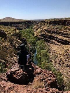 自然,風景,空,岩,旅,ハイキング,谷,草木,峡谷,自分探し