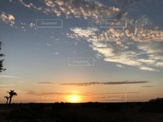 自然,風景,空,絶景,太陽,雲,夕暮れ,旅,残光