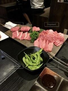 最高の焼き肉です 売上から震災復興に寄付しますの写真・画像素材[4163374]