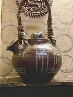 花瓶,壁,日本,陶器,居酒屋,置き物,風情,巨大,眺め,飾り,あかり,しぶい,テキスト,塗り,つぼ