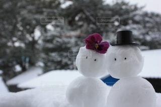恋人,冬,カップル,雪,景色,夫婦,結婚,雪だるま,スノーマン,寄り添う