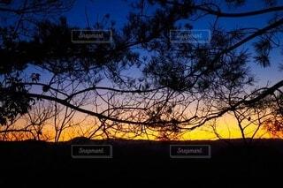 自然,風景,空,青,夕暮れ,シルエット,グラデーション
