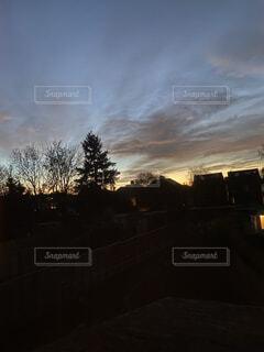 空,海外,夕暮れ,イギリス,ロンドン,不思議