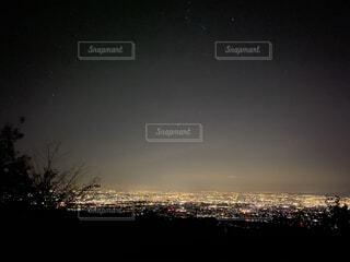 自然,風景,空,夜,夜空,屋外,景色,丘,星,高い