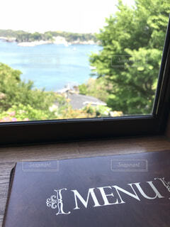 海,夏,窓,景色,窓際