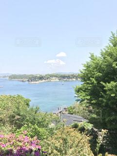 自然,風景,海,空,夏,屋外,雲,水面,山,景色,新緑,草木,眺め,日中